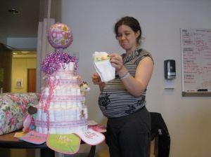 Baby shower in the hospital